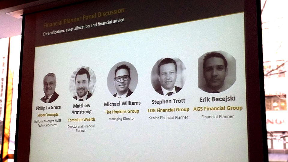 The speakers at the ASX event